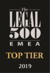 Top Tier 2019 - Legal 500